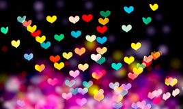 Bokeh сердца форменное Стоковые Фото