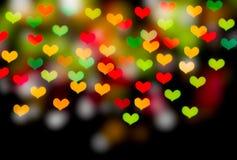Bokeh сердца форменное Стоковое фото RF