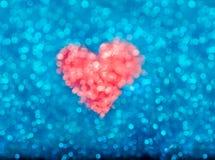 Bokeh сердца иллюстрация вектора