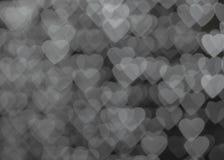 Bokeh сердца Стоковая Фотография