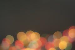 Bokeh сформировало сосны, золотую лампу Во время рождества Стоковые Изображения