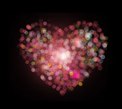 Bokeh формы сердца Стоковые Фотографии RF