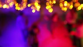 Bokeh людей танцев сток-видео