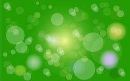 Bokeh绿色抽象背景 免版税库存图片