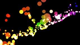 Φωτεινός βρόχος υποβάθρου bokeh διανυσματική απεικόνιση