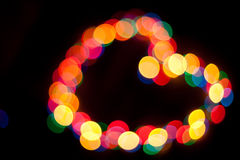 Bokeh. Color spots bokeh background on black Royalty Free Stock Images