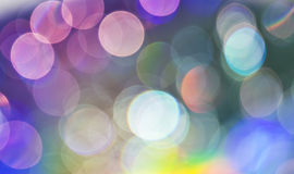 Bokeh. Beautiful abstract colorful background of holiday lights Stock Photos