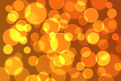 Bokeh. Circle bokeh, orange and yellow Royalty Free Stock Photography