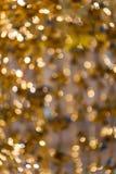 Предпосылка bokeh золота абстрактная стоковые фотографии rf