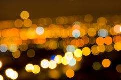 Bokeh. Of orange and yellow lights Stock Images