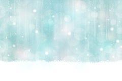 冬天无缝bokeh的背景水平地 免版税库存照片