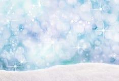 落的冬天雪花Bokeh  免版税库存图片