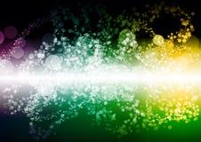 抽象绿色黄色紫色颜色bokeh墙纸 免版税库存照片