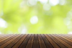 春天绿色和bokeh阳光背景 免版税库存照片