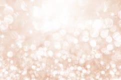 在桃红色的光与星bokeh 库存照片