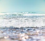 海浪和Bokeh 库存图片