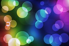 Bokeh. Blured circles of bokeh in colorful background Royalty Free Stock Images