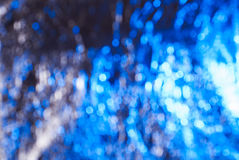 Bokeh abstract background,. Blue and white highlights in the whole frame Royalty Free Stock Images