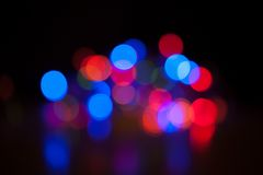 Bokeh. Abstract blurred light background Royalty Free Stock Photos