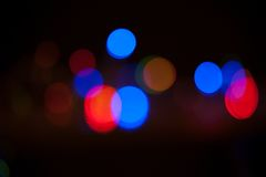 Bokeh. Abstract blurred light background Stock Photography