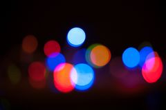 Bokeh. Abstract blurred light background. Blue stock images