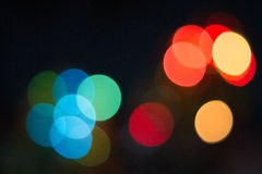Bokeh. Abstract circle bokeh in the night Stock Images
