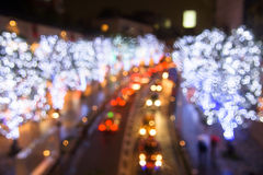 bokeh abstract of Illumination and traffic Royalty Free Stock Photo