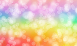 Bokeh abstract rainbow colorful background Royalty Free Stock Image