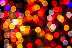 Bokeh-abstractie in hoofdzakelijk rode kleuren royalty-vrije stock foto