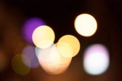 Bokeh abstracto de la luz de Defoucus Imagenes de archivo