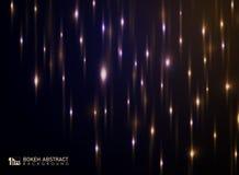 Bokeh abstracto del fondo ligero con la decoración de los brillos imagen de archivo