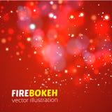 Bokeh abstracto del fuego Fondo del vector Fotografía de archivo libre de regalías