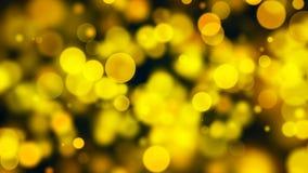 Bokeh abstracto del oro con el fondo negro Fotografía de archivo libre de regalías