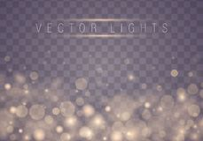 Bokeh abstracto ligero ilustración del vector
