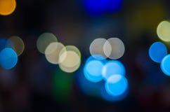 Bokeh abstracto urbano Defocused de las luces de la ciudad imagen de archivo