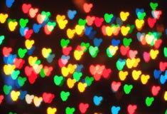 Bokeh abstrait de coeur Photos stock