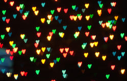 Bokeh abstrait de coeur Photo stock