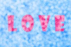 Bokeh abstrait de coeur d'amour Photos libres de droits