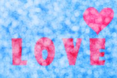 Bokeh abstrait de coeur d'amour Photos stock