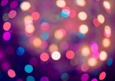 Bokeh Abstrakcjonistyczny Bożenarodzeniowy tło, bożonarodzeniowe światła tło Zdjęcia Royalty Free