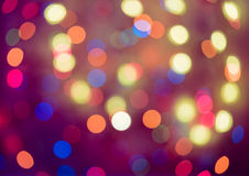 Bokeh Abstrakcjonistyczny Bożenarodzeniowy tło, bożonarodzeniowe światła tło Fotografia Stock