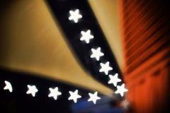 Bokeh abstrato da estrela fotos de stock