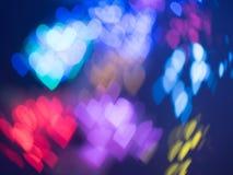 Bokeh abstrato do coração Fotografia de Stock