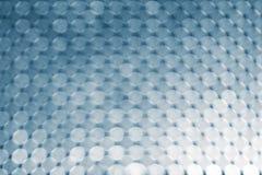 Bokeh abstrato do fundo, o branco e o azul dos círculos foto de stock royalty free