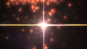 Bokeh abstrato do ouro e efeito digital do alargamento da lente ilustração stock