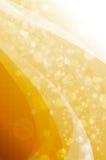 Bokeh abstrato no fundo amarelo Foto de Stock Royalty Free