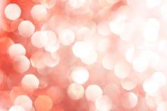 Bokeh abstrato vermelho e de prata - Natal e fundo perfeitos do Valentim Fotos de Stock Royalty Free