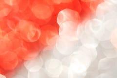 Bokeh abstrato vermelho e de prata - Natal e fundo perfeitos do Valentim Foto de Stock Royalty Free