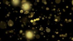 Bokeh accende gli ambiti di provenienza Fondo astratto principale dorato Defocused delle lampadine 4K illustrazione di stock
