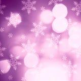 Bokeh accende il bello fondo di Natale Fotografia Stock